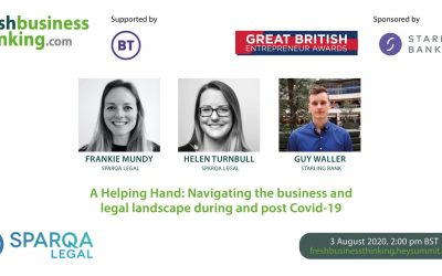 Webinar – A Helping Hand: Navigating the business and legal landscape during and post COVID-19