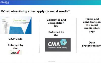 Webinar – Advertising on social media: the legal implications