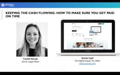 Webinar – Keeping the cash flowing: how to make sure you get paid on time